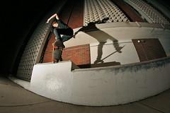 Alder, crook fakie (Wackbards) Tags: night austin texas skateboarding nye fisheye skate newyearseve skateboard strobe happynewyear shredding 512 atx newfish rokinon8mm yeahbruthur