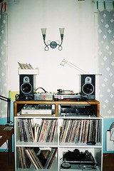My room (Lauri Tht) Tags: records lamp tallinn estonia vinyl turntable 127 speaker eesti mpc akai 2000xl