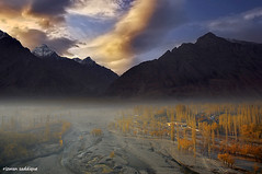 autumn In skardu Valley. (Mountain Photographer) Tags: autumn pakistan sunset cloud mist mountain mountains tree sunrise altitude peak peaks himalaya hunza baltistan himalays highaltitudes gilgat alttitude sakrdu northranarea rizwansaddique highalttitude