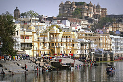 Life is a journey.. (areyarey) Tags: life old city travel sky india lake holiday reflection building heritage tourism water beautiful beauty stone architecture facade buildings spectacular boat town ancient asia traditional scenic culture floating cruising bank grand daily medieval structure historic romantic serene majestic residential turret tranquil rajasthan udaipur ghat pichola rajastan grandeur lakepichola areyarey