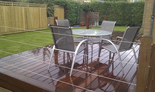 Hardwood Decking Alderley Edge - Modern Family Garden. Image 24