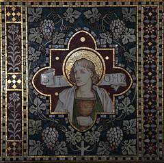 Mosaic of St John (Stephen the Photofan) Tags: texture saint st john mosaic object creative free commons christian layer christianity