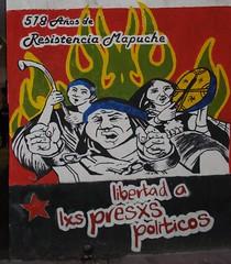 Fuerza Mapuche (.:Subversion*Visual:.) Tags: mural mapuche politicos presxs