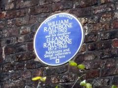 Photo of William Rathbone and Eleanor Rathbone blue plaque