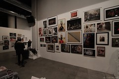 Dan Meade: Feast Your Eyes: Combo #3657 (Dan Meade) Tags: show nyc newyork brooklyn canon gallery texas crowd wide dumbo wideangle books bbq exhibit arena reception 7d openingnight powerhouse lookers canonefs1022mmf3545usm nyph newyorkphotofestival manicamerican txq