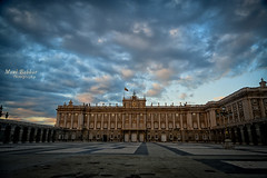 Madrid (~FreeBirD~) Tags: madrid espaa white black castle beautiful architecture skyscape spain nikon europe skies floor memories january palace traveller palacioreal nikonian placesofinterest travelography traveldestination cloudyevening manibabbarphotography