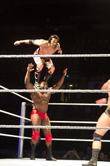 Off the Shoulders (Anton Jackson) Tags: alabama montgomery wwe smackdown houseshow garrettcoliseum ezekieljackson january72012