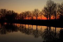 Reflections at sunset (annalisabianchetti) Tags: sunset reflections tramonto riflessi