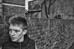 Boy on Hackney Road (davemason) Tags: street portrait mono streetphotography hackney