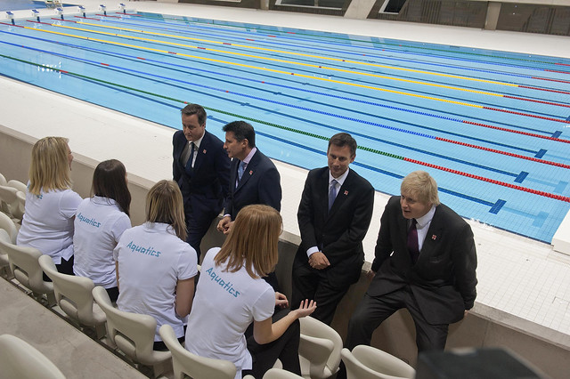 At the Olympic Aquatic Centre