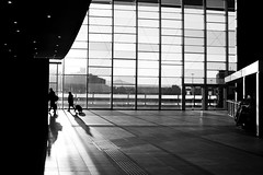 backlight (RedArt photographer) Tags: people bw woman man roma station backlight contrast 123bw redartphoto stazionetiburtima