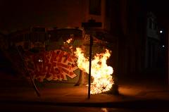 San Francisco 008 (Michael Kappel) Tags: sanfrancisco california ca fire graffiti san francisco flames arson firing pyromania treeonfire sanfranciscograffiti burningtree torching incendiarism settingfire burningchristmastree christmastreeonfire