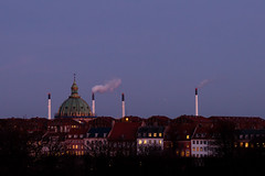 Copenhagen at dusk (mistermacrophotos) Tags: blue winter 2 sky canon copenhagen cityscape afternoon dusk 5d mk