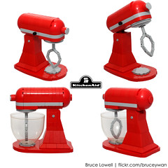 LEGO KitchenAid Tilt-Head Stand Mixer (Details) (bruceywan) Tags: ohio red apple scale kitchen toy stand model candy lego head mixer replica hobart 1919 tilt greenville appliance photostream countertop kitchenaid duplo whirpool brucelowellcom
