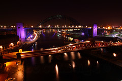 Newcastle Bridges at Night (Lee Collings Photography) Tags: nightphotography bridge architecture night newcastle nightscape nightshot bridges nighttime nightscene newcastleupontyne ukbridges photographyatnight newcastlebridges bridgesatnewcastle