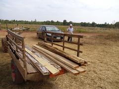 Hand-cut planks from salvaged wood (Asia Plantation Capital) Tags: nakhon sakon