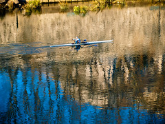Rowing on Reflection (Claudio Cantonetti) Tags: ancient angelo arch a