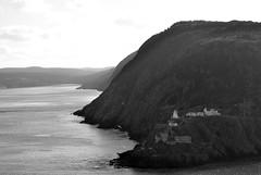 Edge of the Earth (Screen Door Slams) Tags: ocean cliff canada mountains newfoundland stjohns atlanticocean signalhill edgeoftheworld blackandwhitenikon d7000