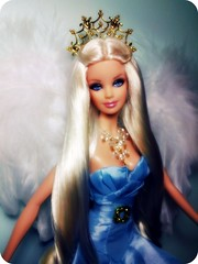 Angel! (Alberto.Gar) Tags: pink blue white angel wings doll dress label feather barbie couture 2010