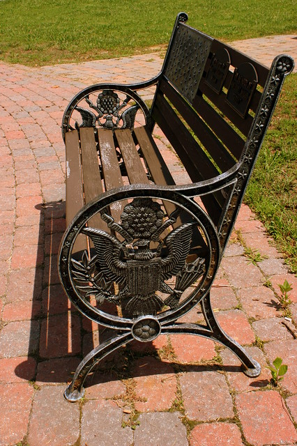 Patriotic Park Bench - Harriman, TN