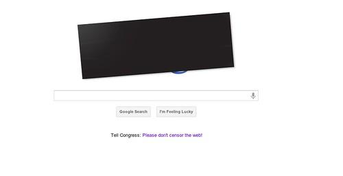 Google Protests SOPA/PIPA