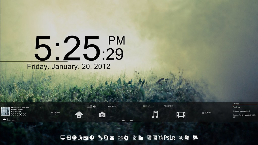 The World's most recently posted photos of rainmeter and