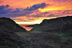 Sunset from Cathair Dhubh holiday cottages (padsbrother) Tags: holiday scotland sutherland assynt 2012pad cathairdhubh