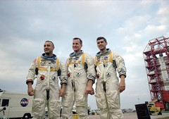 Apollo 1 Crew in Training (NASA APPEL Knowledge Services) Tags: accident nasa astronauts launch edwhite gusgrissom apollo1 rogerchaffee explorions apollo204reviewboard