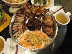 small dishes (Ms Lambie) Tags: duck jellyfish lotus pigeons chinesenewyear ribs seafood tongues