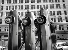 Oakland, California (Dave Glass . foto) Tags: oakland parking broadway publicart oaklandca downtownoakland oaklandcalifornia fordpinto verticalparking automobileaslandscape stevegillman