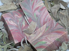 BLACKBERRY SAGE (TheoDora Soaps) Tags: cold process soap swirl sage