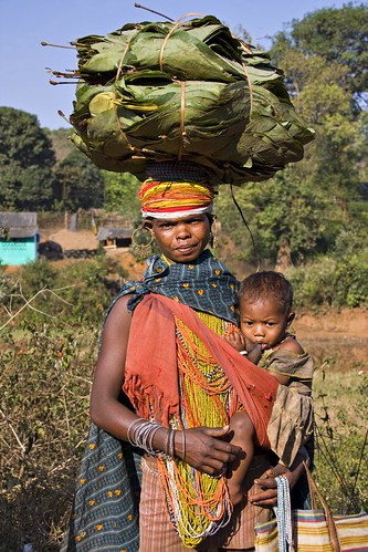 Bonda woman and child