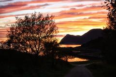 Follow the path.... (larigan.) Tags: trees sunset mountains silhouettes footpath norwegiansea gody tueneset larigan phamilton ginordicjan12
