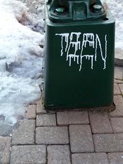 Teen (silverfuture) Tags: snow streetart teen drips logansquare runny