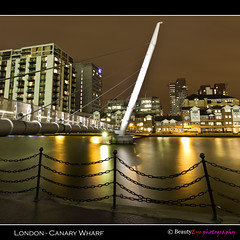 London - Canary Wharf (Beauty Eye) Tags: park city uk longexposure bridge sea london eye tower thames architecture night canon river dark landscape eos rebel lights europe long exposure nightshot unitedkingdom britain outdoor great wharf gb canary canarywharf tamron westminister t3i europen ultrawideangle   f3545  greatphotographers 600d    leurope   beautyeye flickraward 1024mm londoncanarywharf  canon600d eneurope  tamronspaf1024mmf3545diiild rebelt3i diiild canon600deos tamronspaf1024mmf3545d