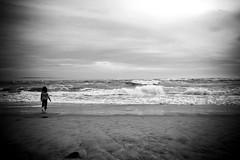 The Beach (Cyrielle Beaubois) Tags: ocean sea mer beach girl canon eos waves child young sigma vagues plage capferret ocan 400d cyriellebeaubois