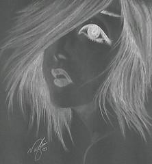 photo art (no0ouf^^) Tags: white black eye art love girl fun photo cool nice women pin shot drawing gray draw now photoart gentle بنات pnu رسم قلم فتاة flickrandroidapp:filter=none