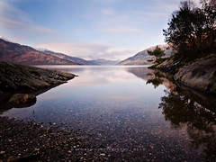[5/52] Landscapes (w.mekwi photography) Tags: longexposure b reflection tree water landscape scotland rocks hills lochlomond 552 rowerdennan nd110 sigma1020mmdchsm nikond7000 recordingimages wmekwiphotography mekwicom