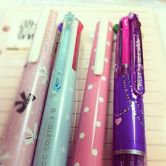 love my customize pens.. lods ( A.S.P.A.R.I.N.A ) Tags: square squareformat kawaii stationeries iphoneography instagramapp uploaded:by=instagram