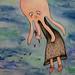 Oktopus Girl mit Liebeskummer
