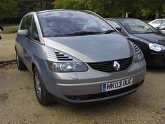 Renault Avantime - HK03 OUG (front) (oliblob) Tags: 2003 photography renault casio carpark beaulieu avantime hk03oug