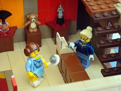 LEGO Collectable Corner - Minifig Maison boutique - smooth Leia do! (dita_svelte) Tags: corner lego modular minifig collectable moc