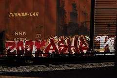 ZOOR - ASHR - KODER (QsySue) Tags: railroad train graffiti tag traintracks traincar dslr telephotolens railroadtracks zoomlens railroadcar inlandempire sanbernardinocounty takenbydaniel nikond200 koder zoor ashr