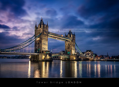 Tower Bridge, London (Beboy_photographies) Tags: bridge blue sunset london tower towerbridge sunrise hour londres pont bluehour crpuscule hdr matin