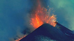 Those grand final moments (etnaboris) Tags: italy dawn volcano milo sicily etna eruption daybreak paroxysm lavafountain newsoutheastcrater paroxysmaleruptiveepisode magmabubblesexploding