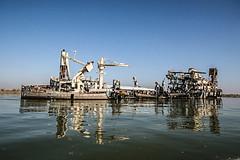 Shipwreck, Shatt Al-Arab Waterway, Basra, Iraq