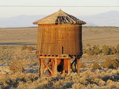 Leaning Tower (Patricia Henschen) Tags: railroad watertank narrowgauge drg denverriogrande railroadequipment trespiedrasnewmexico