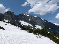 Cascade Pass 2012 020 (Barry Brower) Tags: mountaingoats northcascades cascadepass northcascadeshiking cascadepasshiking