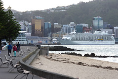 Wellington - coolest little capital in the world - Lonely Planet (Maureen Pierre) Tags: world city newzealand bay waterfront capital wellington cruiseship oriental coolest