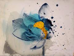 DSC09525 (scott_waterman) Tags: blue ink watercolor painting paper lotus gouache bluehue lotusflower scottwaterman
